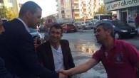 Milletvekili Yaldır Çarşı Esnafı ile kucaklaştı