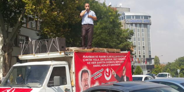 BBP adayı Karaman'dan tek kişilik seçim çalışması