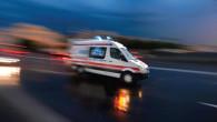 Trafik kazasına giden ambulans kaza yaptı