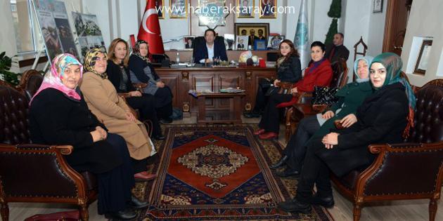 AK Parti Kadın Kolları'ndan Başkan Yazgı'ya ziyaret
