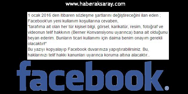 Facebook sözleşme şartları aldatmacası