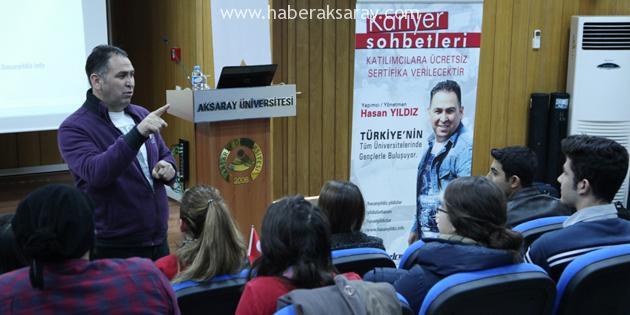 Yapımcı-yönetmen Hasan Yıldız ASÜ'lülerle buluştu