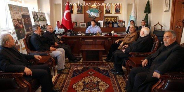 Muhtarlar, Başkan Yazgı'yı ziyaret etti
