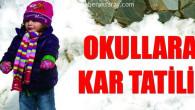 Aksaray'da taşımalı sisteme kar tatili