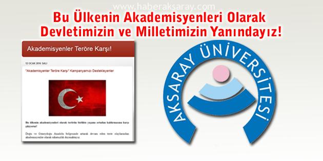 'Akademisyenler Teröre Karşı' bildirisine ASÜ'den yoğun destek
