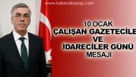 Vali Ataklı'nın, 10 Ocak Çalışan Gazeteciler Günü mesajı