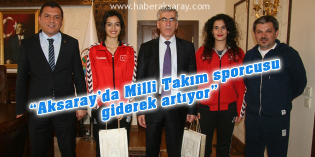 Aksaray Belediye Spordan Vali Şeref Ataklı'ya ziyaret