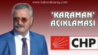 CHP İl Başkanı Toprak'tan 'Karaman' açıklaması