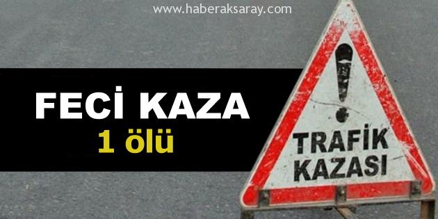Aksaray'da dur ihtarına uymayan otomobil kaza yaptı