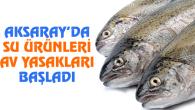 Aksaray'da su ürünleri av yasakları başladı