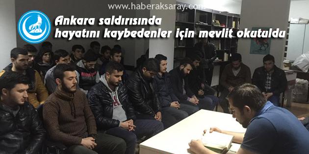 Ankara saldırısında hayatını kaybedenler için mevlit okutuldu