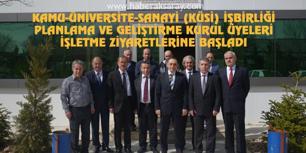 Aksaray'da Kamu-Üniversite-Sanayi İşbirliği toplantısı yapıldı