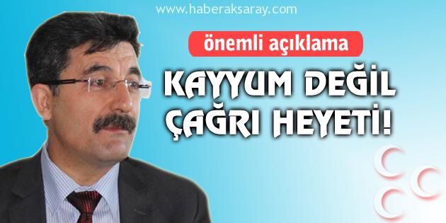 MHP'ye atanan heyetin başkanı Ayhan Erel'den açıklama