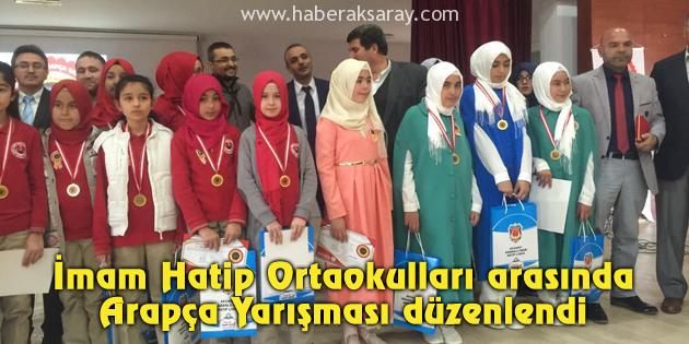 İmam Hatip Ortaokulları arasında Arapça Yarışması düzenlendi