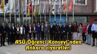 ASÜ Öğrenci Konseyi'nden Ankara ziyaretleri