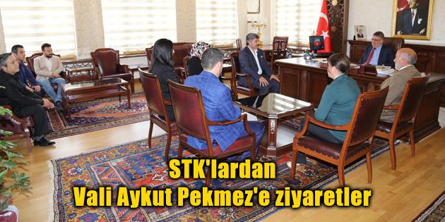 STK'lardan Vali Aykut Pekmez'e ziyaretler