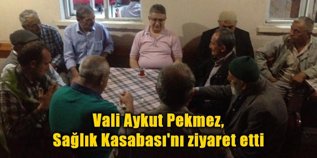 Vali Aykut Pekmez, Sağlık Kasabası'nı ziyaret etti