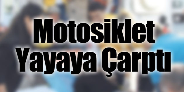 Çalıntı motosikletle kaza yaptı: 2 yaralı