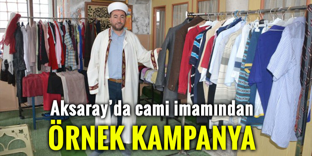 Aksaray'da cami imamından örnek kampanya