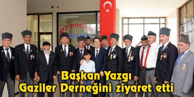 Başkan Yazgı, Gaziler Derneğini ziyaret etti