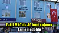 Eskil MYO'da 40 kontenjanın tamamı doldu