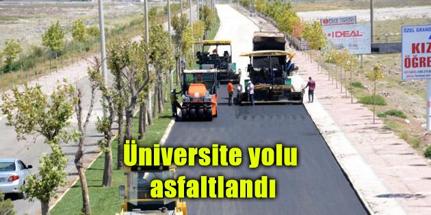 Üniversite yolu asfaltlandı