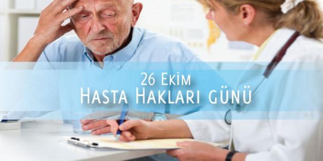 26 Ekim Dünya Hasta Hakları Günü