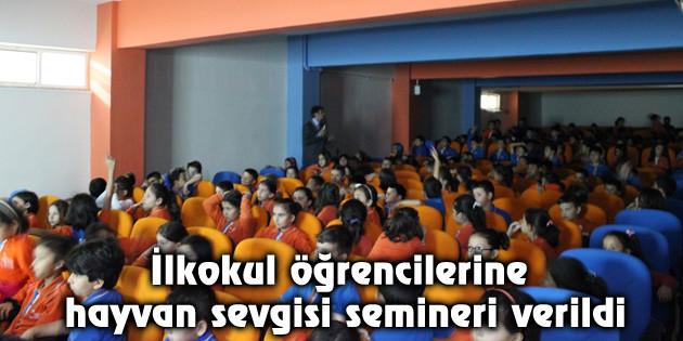 İlkokul öğrencilerine hayvan sevgisi semineri verildi