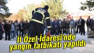 İl Özel İdaresi'nde yangın tatbikatı yapıldı
