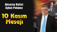 Vali Pekmez'in 10 Kasım Atatürk'ü Anma Günü mesajı