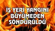 Aksaray'da iş yeri yangını!