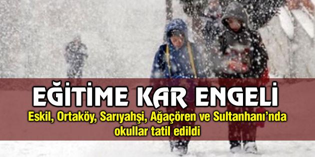 Aksaray'da eğitime kar engeli