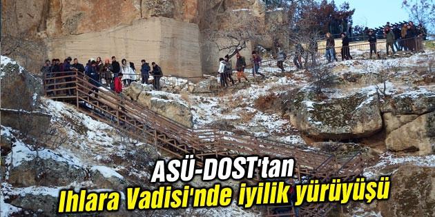 ASÜ-DOST'tan Ihlara Vadisi'nde iyilik yürüyüşü