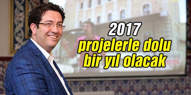 Başkan Yazgı: 2017 projelerle dolu bir yıl olacak