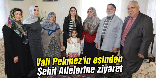 Vali Pekmez'in eşinden Şehit Ailelerine ziyaret