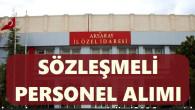 Aksaray İl Özel İdaresi 11 Sözleşmeli Personel Alım İlanı