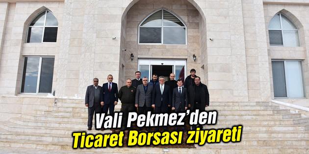 Vali Aykut Pekmez Aksaray Ticaret Borsasını ziyaret etti