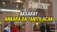 Aksaray Ankara'da tanıtılacak