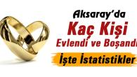 Aksaray'ın 2018 evlenme ve boşanma istatistikleri açıklandı