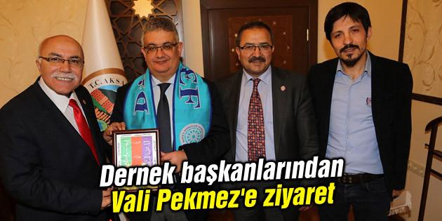 Dernek başkanlarından Vali Pekmez'e ziyaret