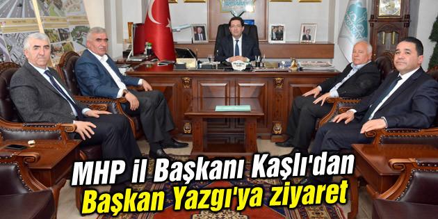 MHP il Başkanı Kaşlı'dan Başkan Yazgı'ya ziyaret