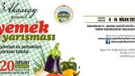 3.Yöresel Aksaray Yemekleri Yarışması başlıyor