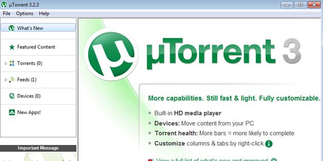 Torrent indirme programı