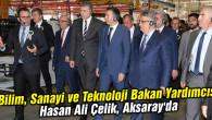 Bilim, Sanayi ve Teknoloji Bakan Yardımcısı Hasan Ali Çelik, Aksaray'da