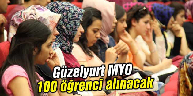 Güzelyurt MYO 100 öğrenci alınacak