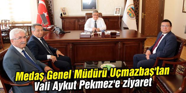 Medaş Genel Müdürü Uçmazbaş'tan Vali Aykut Pekmez'e ziyaret