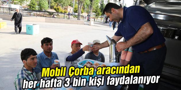 Mobil Çorba aracından her hafta 3 bin kişi faydalanıyor