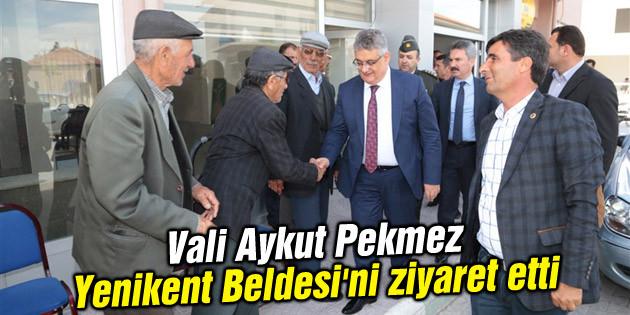 Vali Aykut Pekmez Yenikent Beldesi'ni ziyaret etti