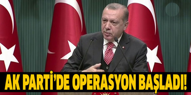 Erdoğan'dan belediye operasyonu