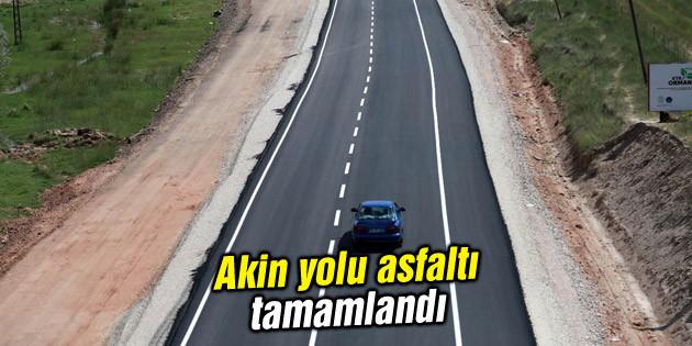 Akin yolu asfaltı tamamlandı